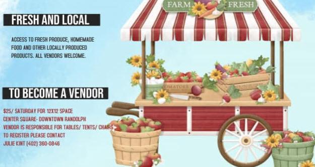 RANDOLPH PARK BOARD 1ST ANNUAL FARMERS MARKET, SATURDAYS 2021